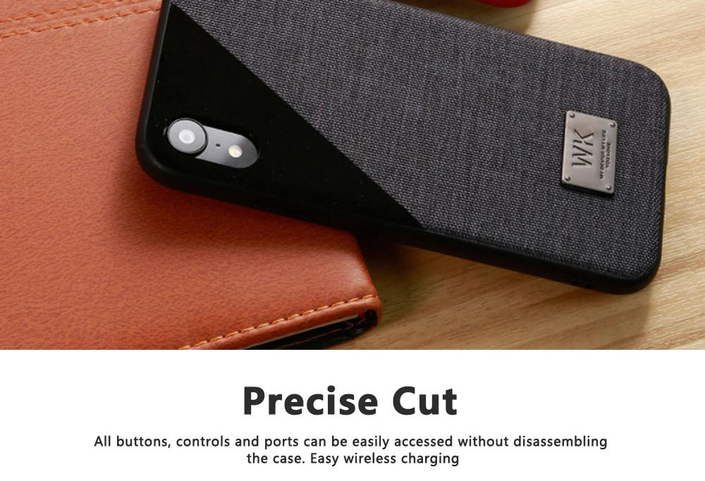 Creative Phone Case Modern Soft PU Cloth Back Case Cover Phone Protective Shell for iPhone 7or 8, 7 or 8 Plus, X or XS Max 3