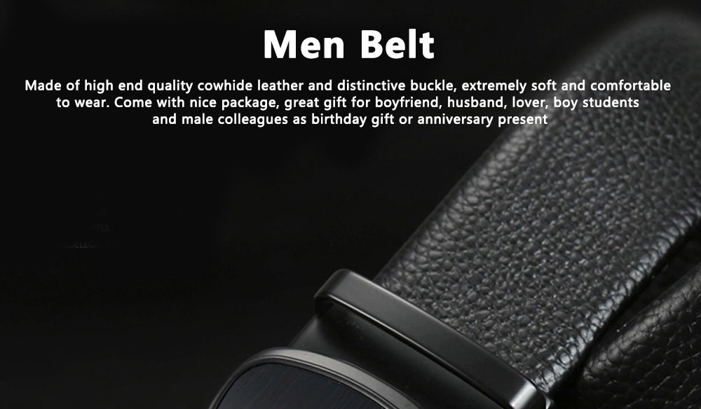 TUCANO Men Belts Genuine Cowhide Leather Belt Mens Fashion Accessories with Automatic Sliding Buckle 0