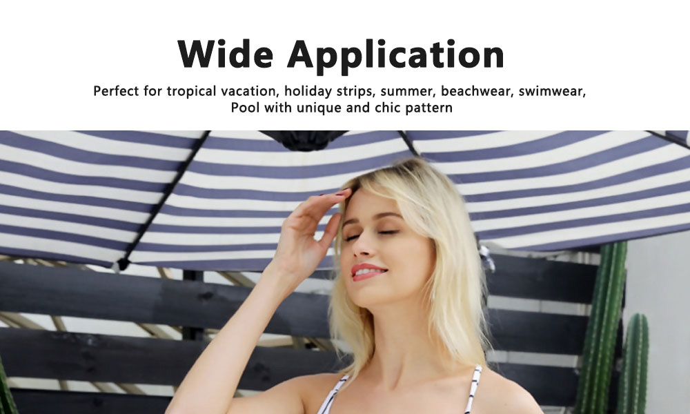 Women Sexy Swimwear High Waisted One Piece Striped Swimsuit Backless Front Bow Tie Bikini Bathing Suits 2019 New Hot 2