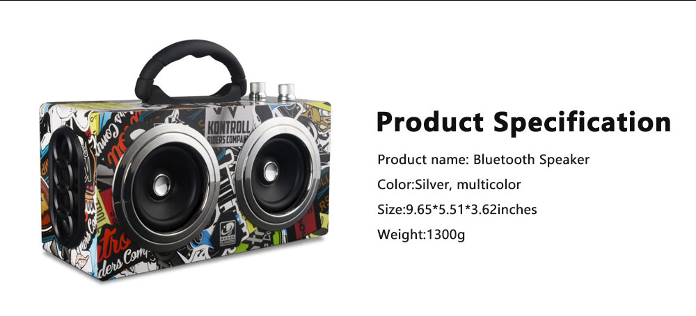 Portable Wireless Bluetooth Speaker High Power Car Outdoor Radio Dual Speakers System Subwoofer 9
