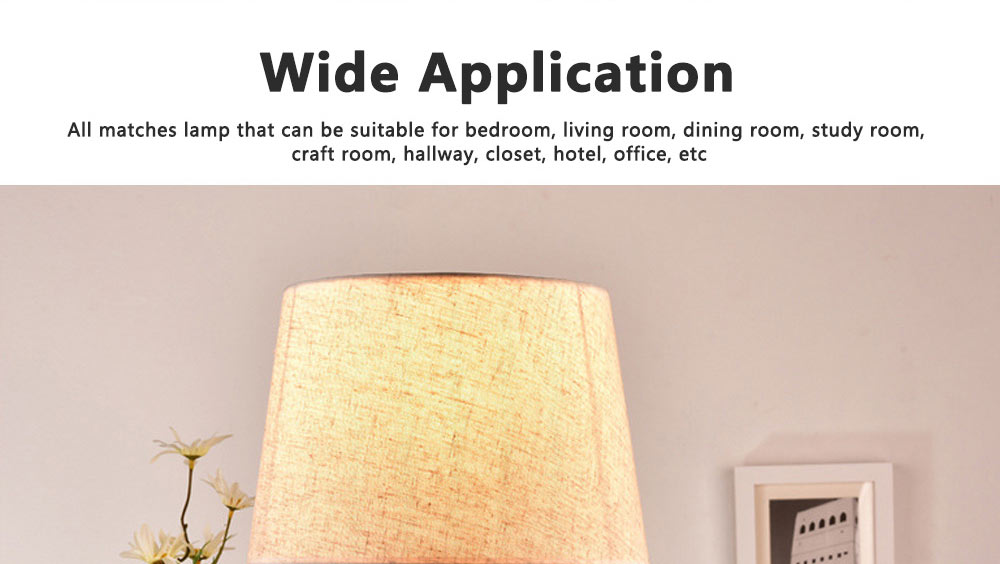 Night Lights LED Multifunctional Linen Lampshade Reading Lamp E27 Screw Touch Switch Table Lamp Bedside Lamp for Home Decor 4
