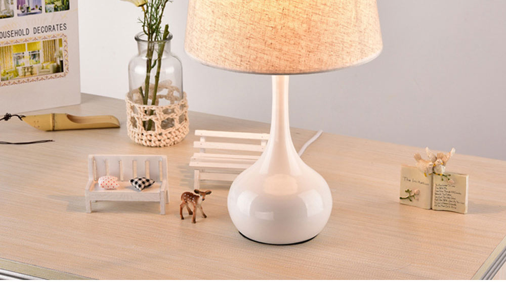 Night Lights LED Multifunctional Linen Lampshade Reading Lamp E27 Screw Touch Switch Table Lamp Bedside Lamp for Home Decor 1