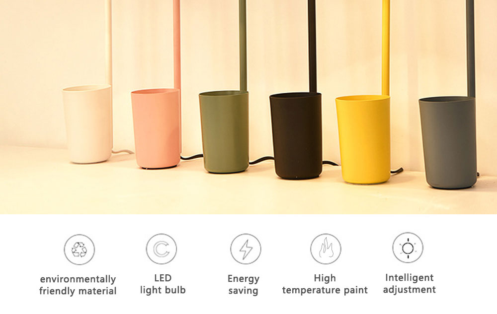 Macaron Table Lamp Durable Iron Desk Light Simple Long Reading Light for Bedroom Dormitory Office Decoration 1