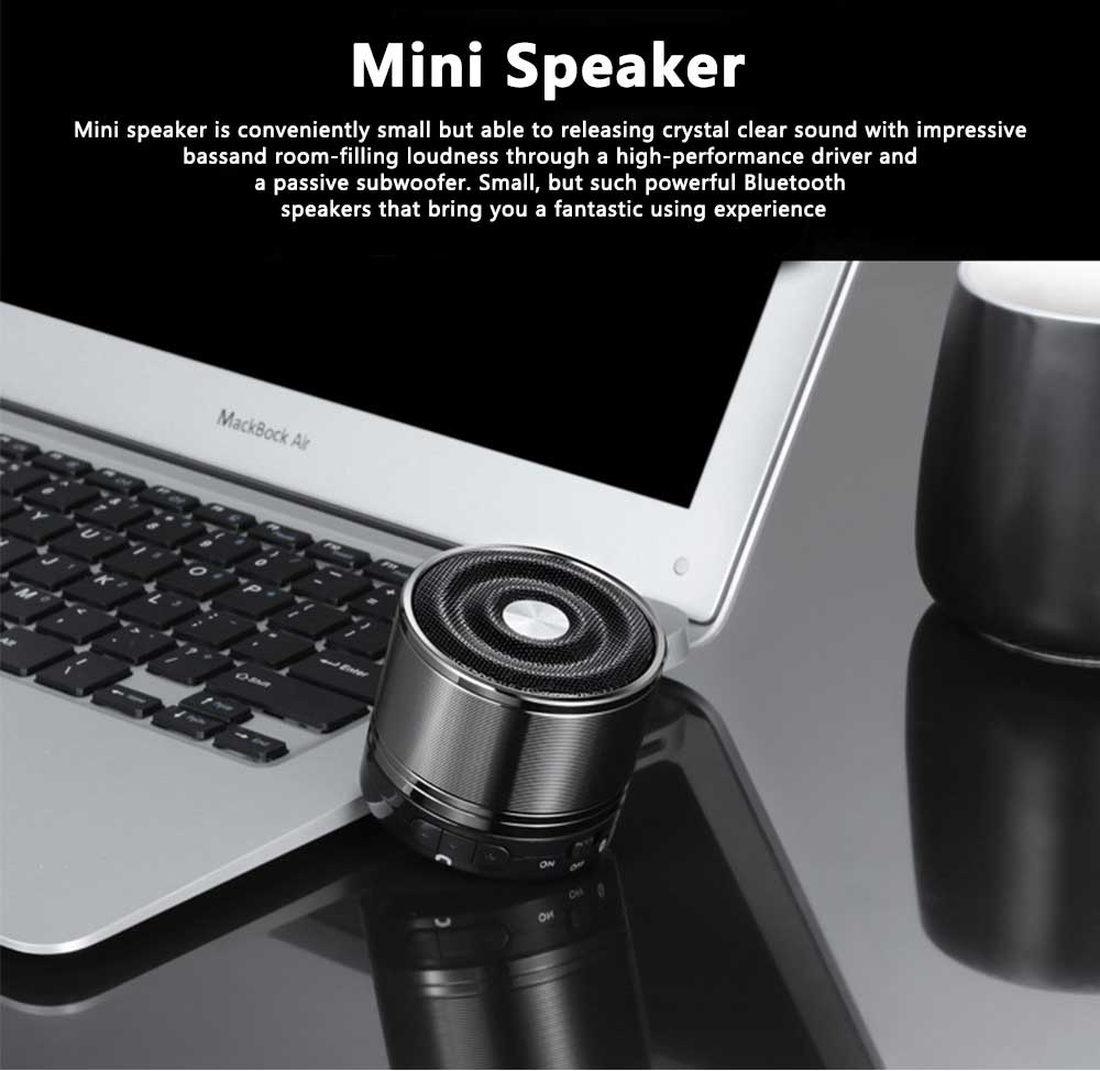 Portable Wireless Speakers Outdoor Rechargeable Bluetooth Speaker HD Sound &Bass Mini Stereo Speaker with Built-in Mic and SD/TF Card 0