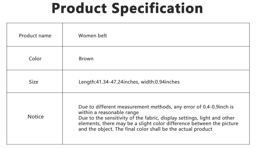 Women Genuine Cowhide Leather Belt Waist Skinny Dress Belts Solid Pin Buckle Belt For Jeans Pants 6