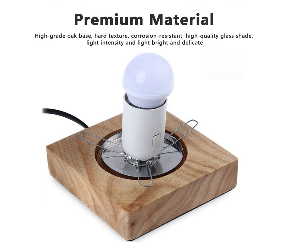 LED Table Light Fashion Glass Ice Cube Night Light Beside Lamp with 2 Colors for Home Decor 3