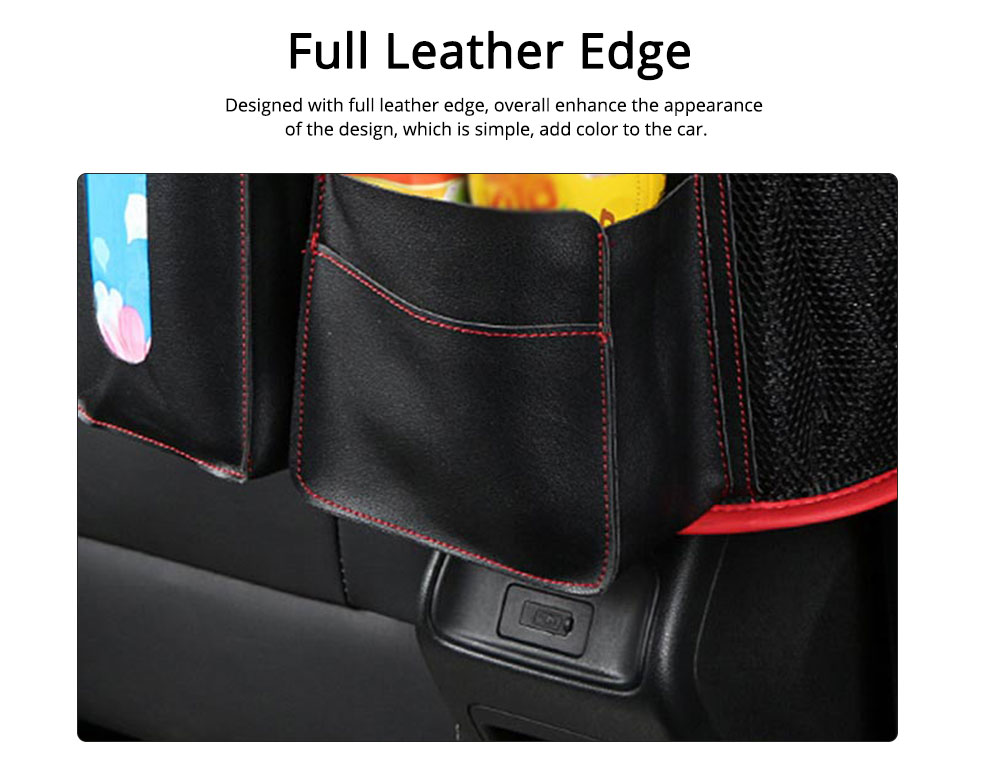 Carriage Bag for Mammy, Baby, PU Material Big Capacity with Pockets Velcro Stability Cross-border Storage Net Bag for Store Daily Items Car Collection Bag 1