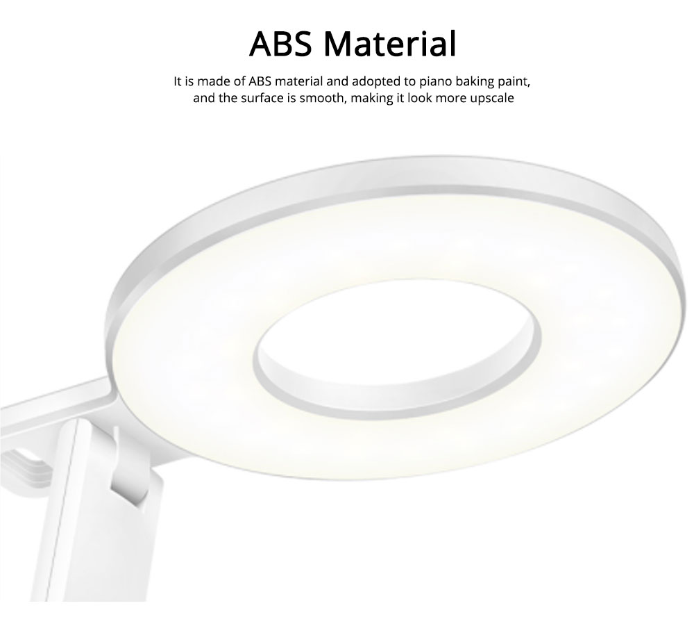Led Desk Lamp ABS Material Adjustable Brightness Colors Large Light Area Touching Switch Light USB Rechargeable Folding Lamp 7