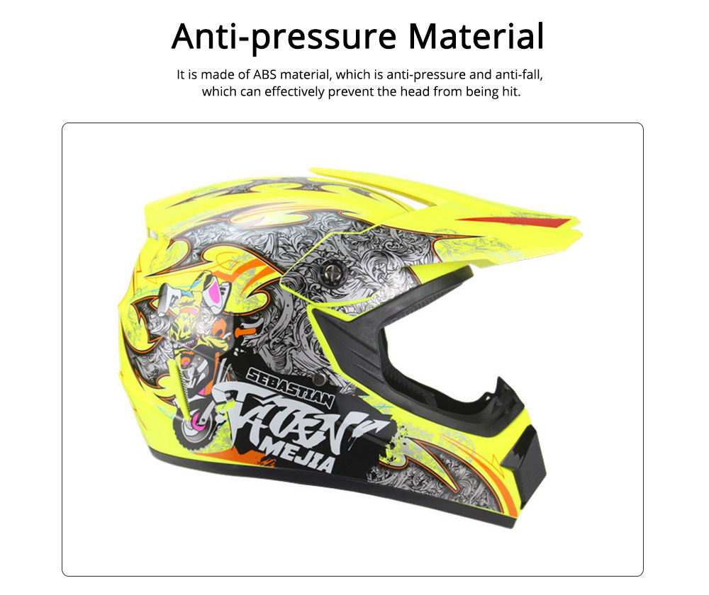 Motor Helmet Mountain Bike Safe Headgear ABS Material Anti-fall Pirate Skull Pattern Headgear for Men Women Riding Cap Anti-pressure Light Helmet 1