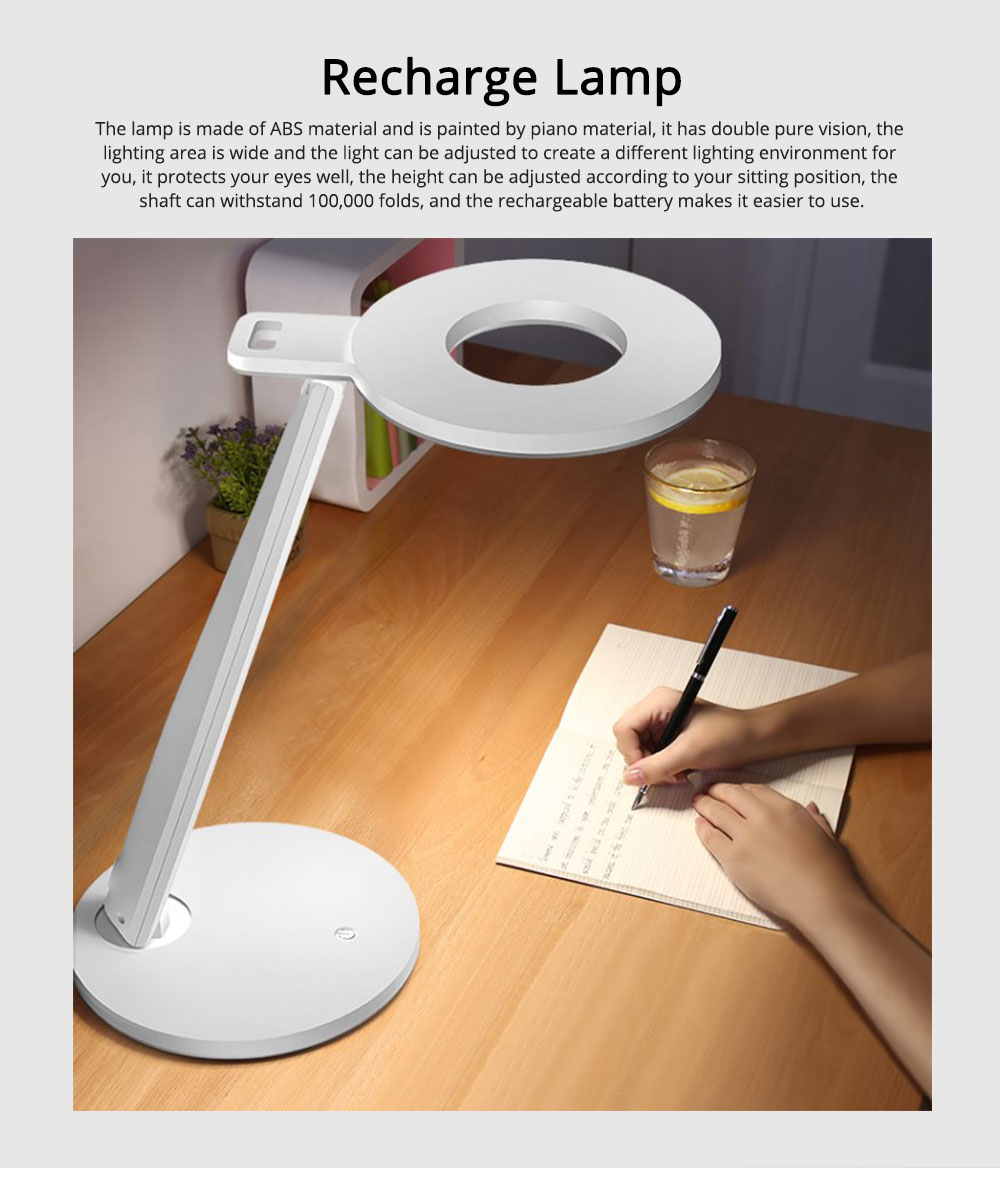 Led Desk Lamp ABS Material Adjustable Brightness Colors Large Light Area Touching Switch Light USB Rechargeable Folding Lamp 0