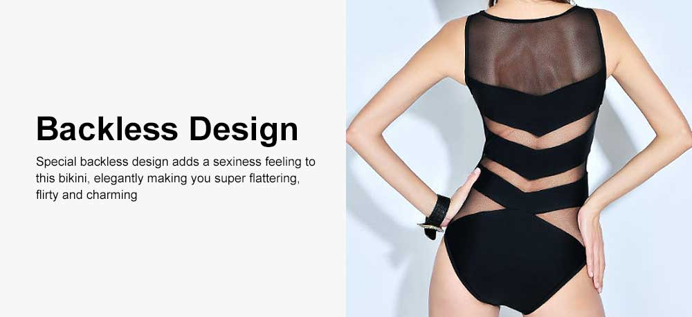 Sexy One Piece Swimsuits for Women, High Waisted Mesh Ruched Cutout Slim fit Swimwear  Beach, Ocean, and Pool 5