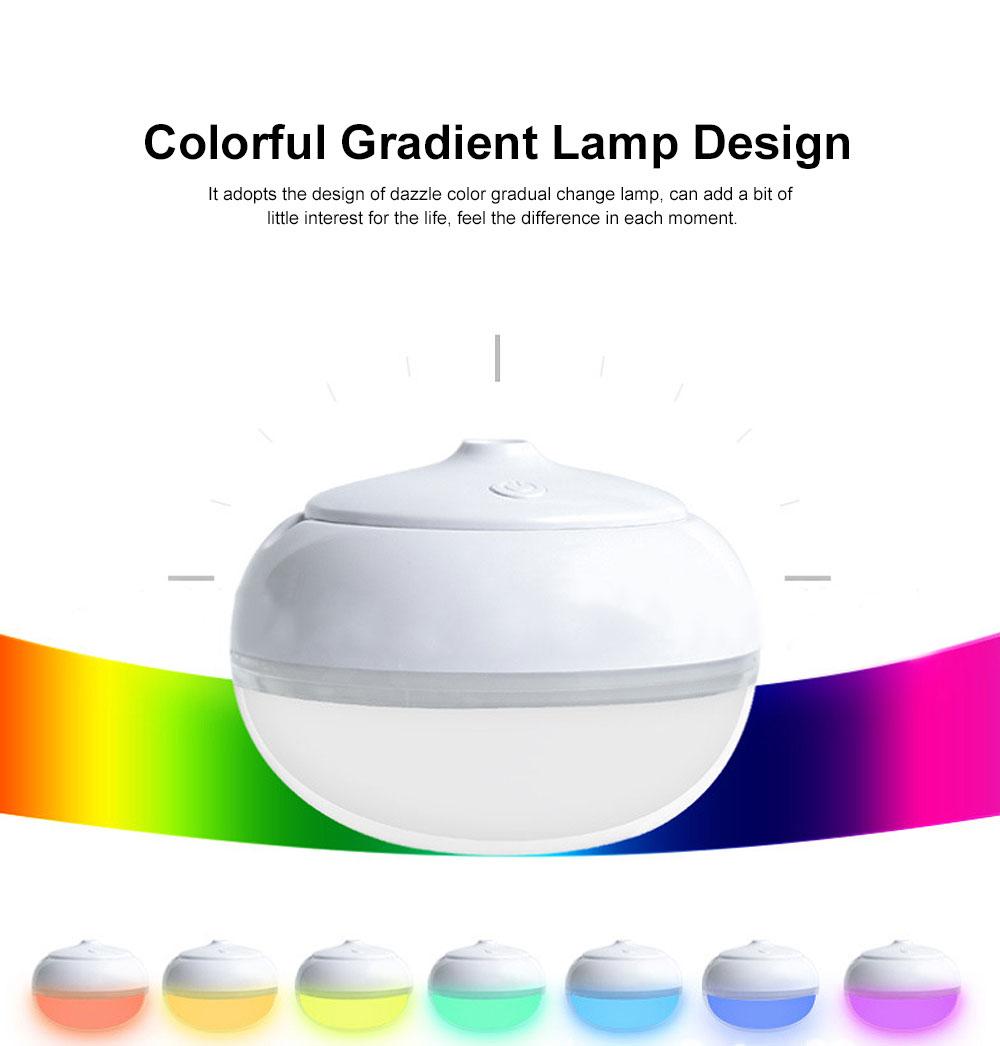 USB Mini Desktop Air Atomizer, Incense Humidifier, Night Light 7 Colors 258ml Mini Humidifiers Desktop 1