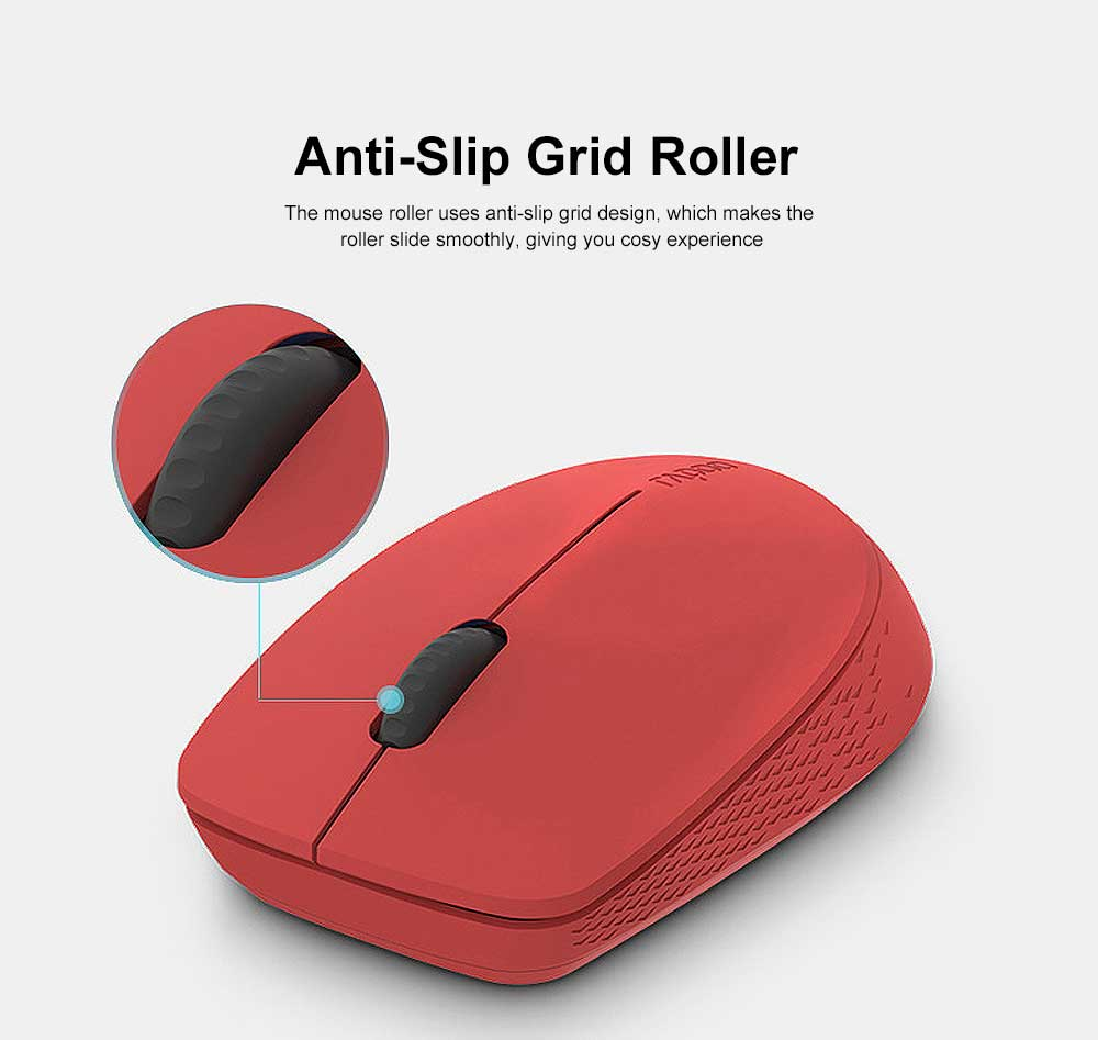 2.4G Wireless Bluetooth Mouse Slim Wireless Mouse with 1300 DPI Compatible for PC, Laptop, Mac, Android, Windows 3