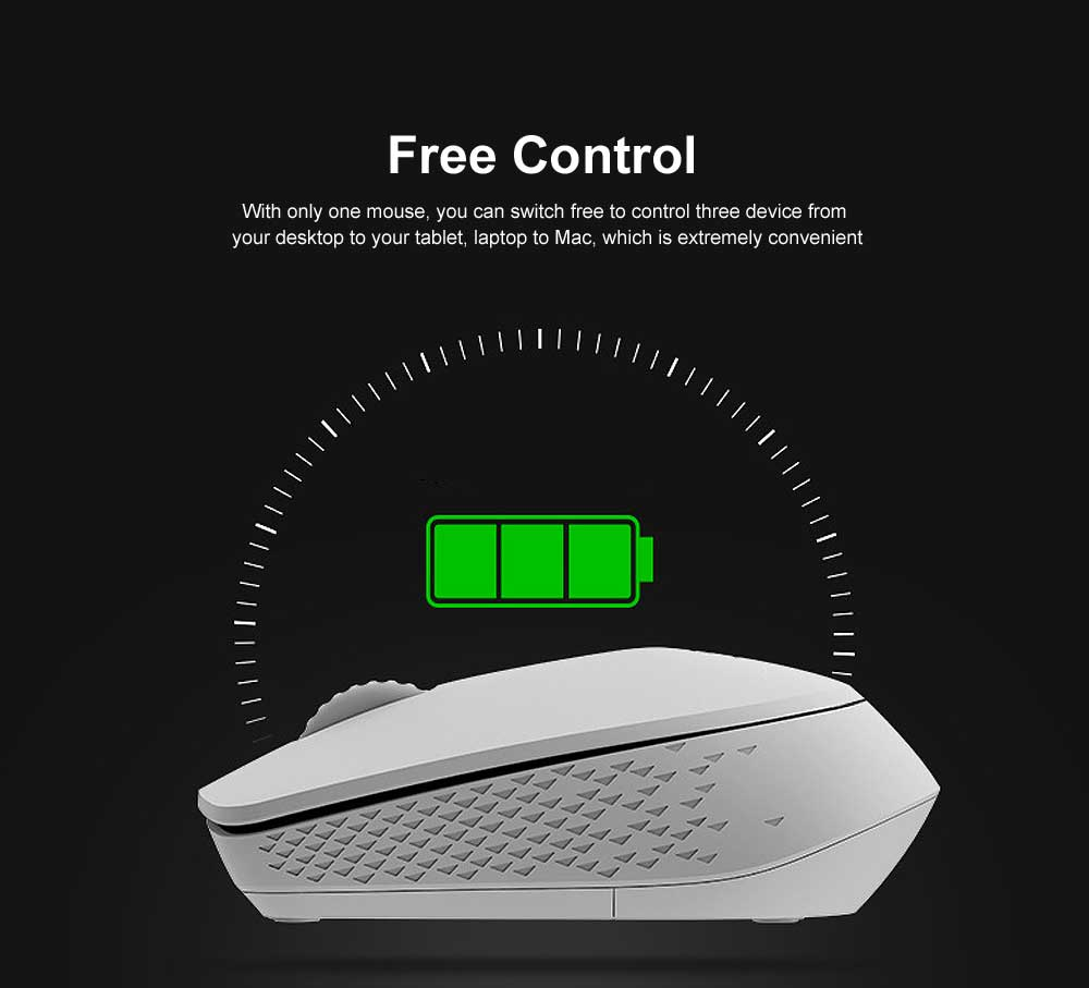 2.4G Wireless Bluetooth Mouse Slim Wireless Mouse with 1300 DPI Compatible for PC, Laptop, Mac, Android, Windows 6