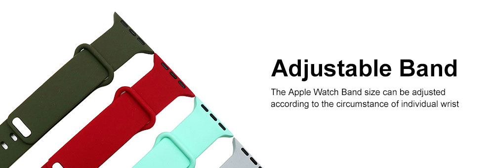 Thin Watch Band Soft Silicone Sport Bands Replacement Strap Compatible with Apple Watch 42mm 38mm 2
