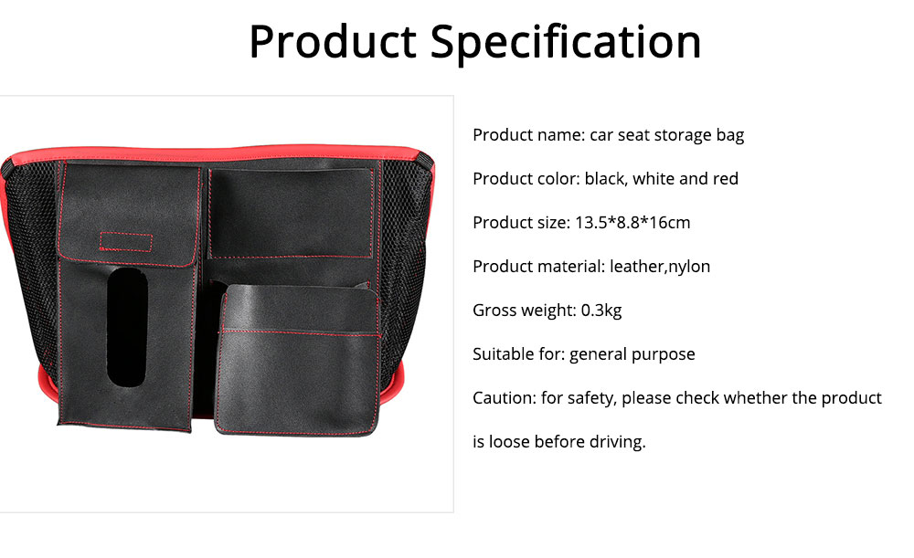 Carriage Bag for Mammy, Baby, PU Material Big Capacity with Pockets Velcro Stability Cross-border Storage Net Bag for Store Daily Items Car Collection Bag 6