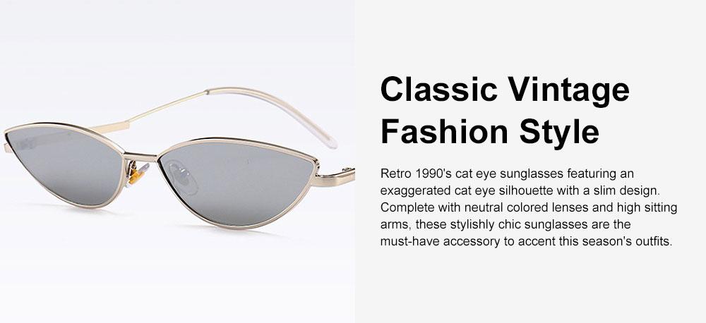 Metal Frame Cat Eye Sunglasses for Women, UV Protection Anti-glare Sunglasses Light Weight HD Lady Sunglasses 3