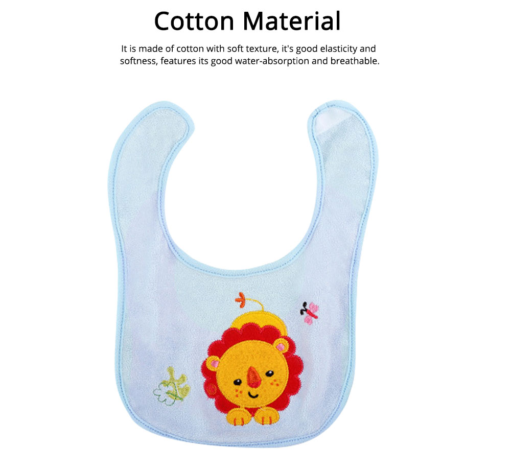 Saliva Cover Cotton TPU Material, Waterproof Spit Bib for Baby Avoid Dirt with Cute Pattern Design Breathable Baby Bib 1