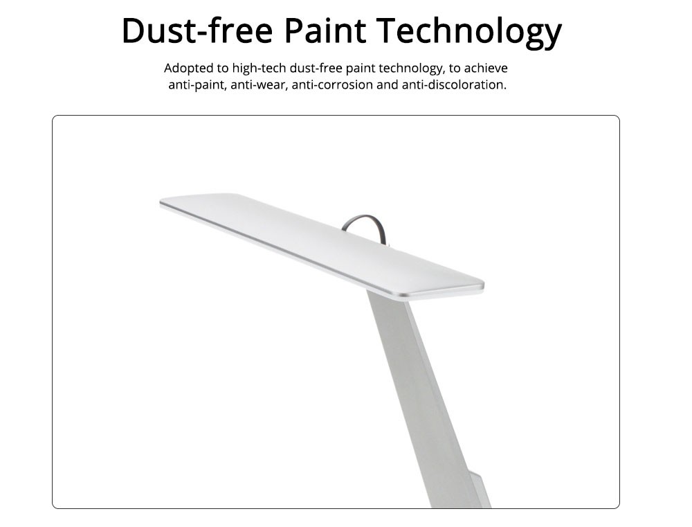 Folding Stylish Desk LED Lamp Ultra Slim ABS Rubber Material Folding Lamp Long Stand by Anti-paint Light USB Rechargeable LED Light for Student Dormitory 1