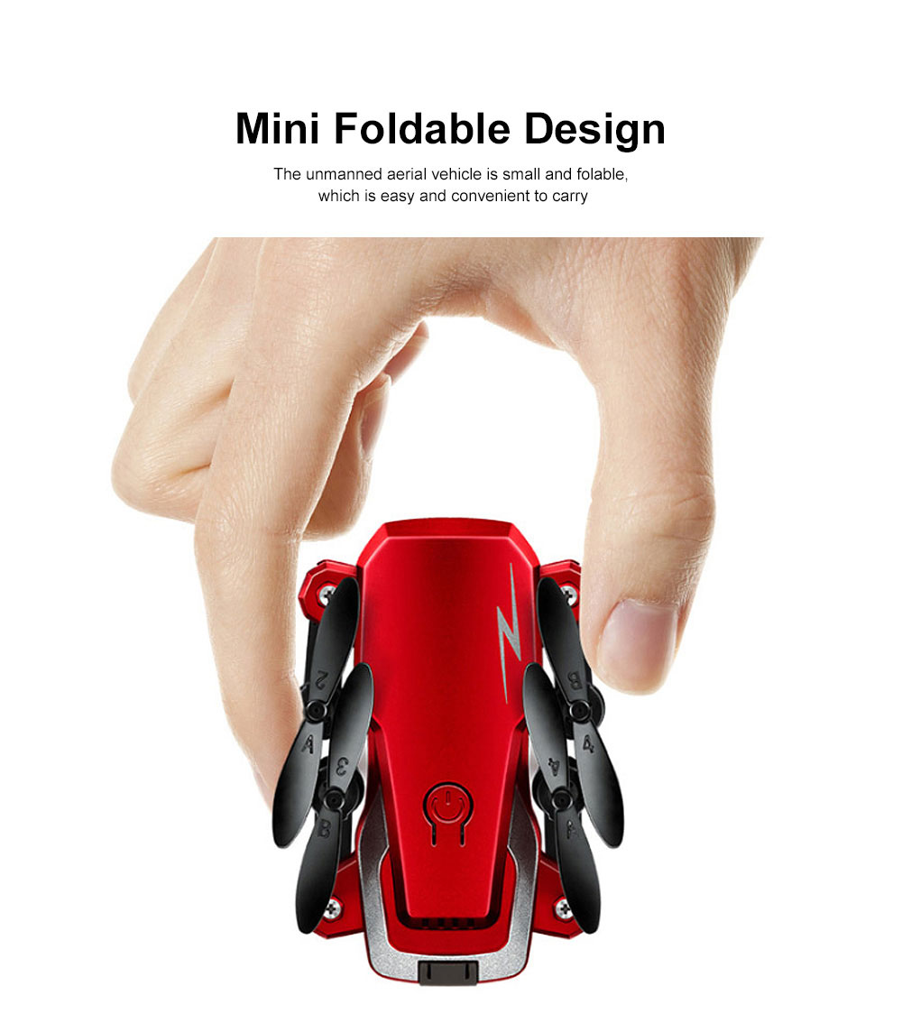 Tinkleo Mini Foldable Unmanned Drone with Quacopter HD Camera Wi-Fi Transmission Headless Mode Camera Drone 1