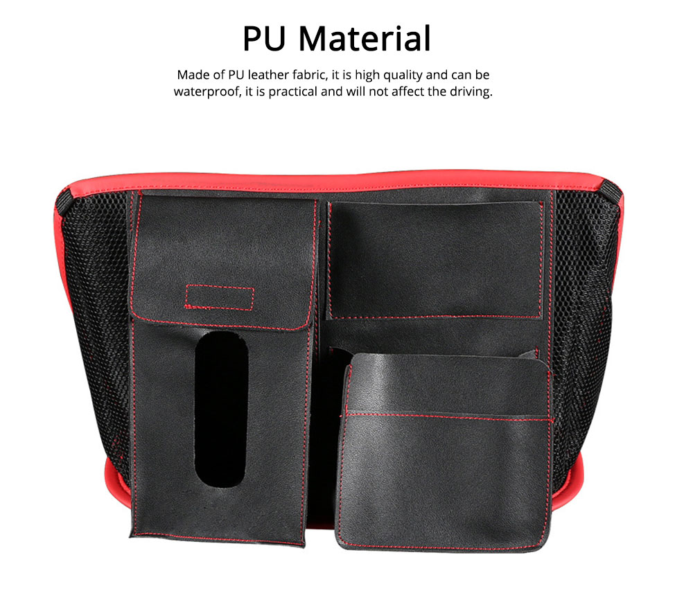 Carriage Bag for Mammy, Baby, PU Material Big Capacity with Pockets Velcro Stability Cross-border Storage Net Bag for Store Daily Items Car Collection Bag 2