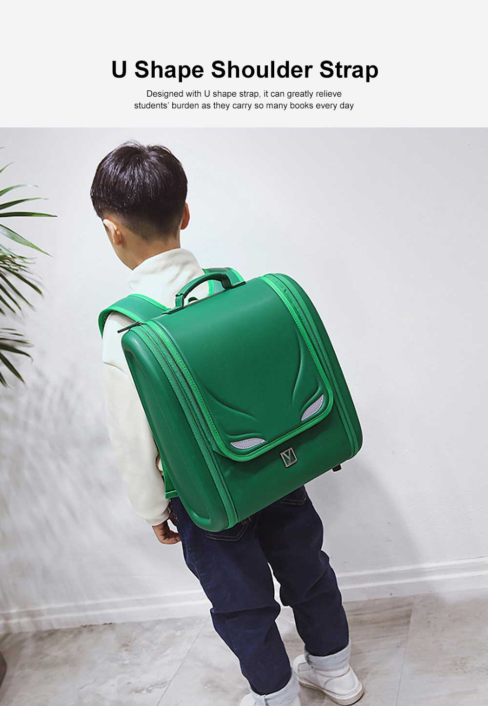 Student Schoolbag with High Capacity Waterproof Breathable Ergonomic Design for 6 to 9 Year Kids School Bag Built in Side Pocket for Boy Girl Gift 1