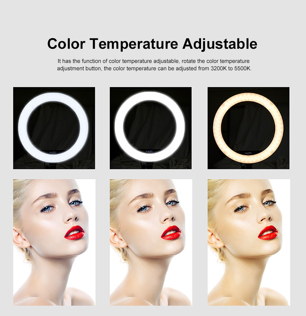 Selfie Desktop Ring Light, Dimmable Ring Light for YouTube Live Streaming, Portrait Photography, LED Round Fill Light 14 inches 2