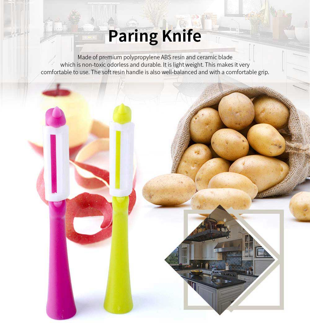 Ceramic Paring Knife Rust Resistant Odorless Paring Knife Fashion Kitchen Accessories Non-Slip Soft Grip Handle Peeling Knife 0