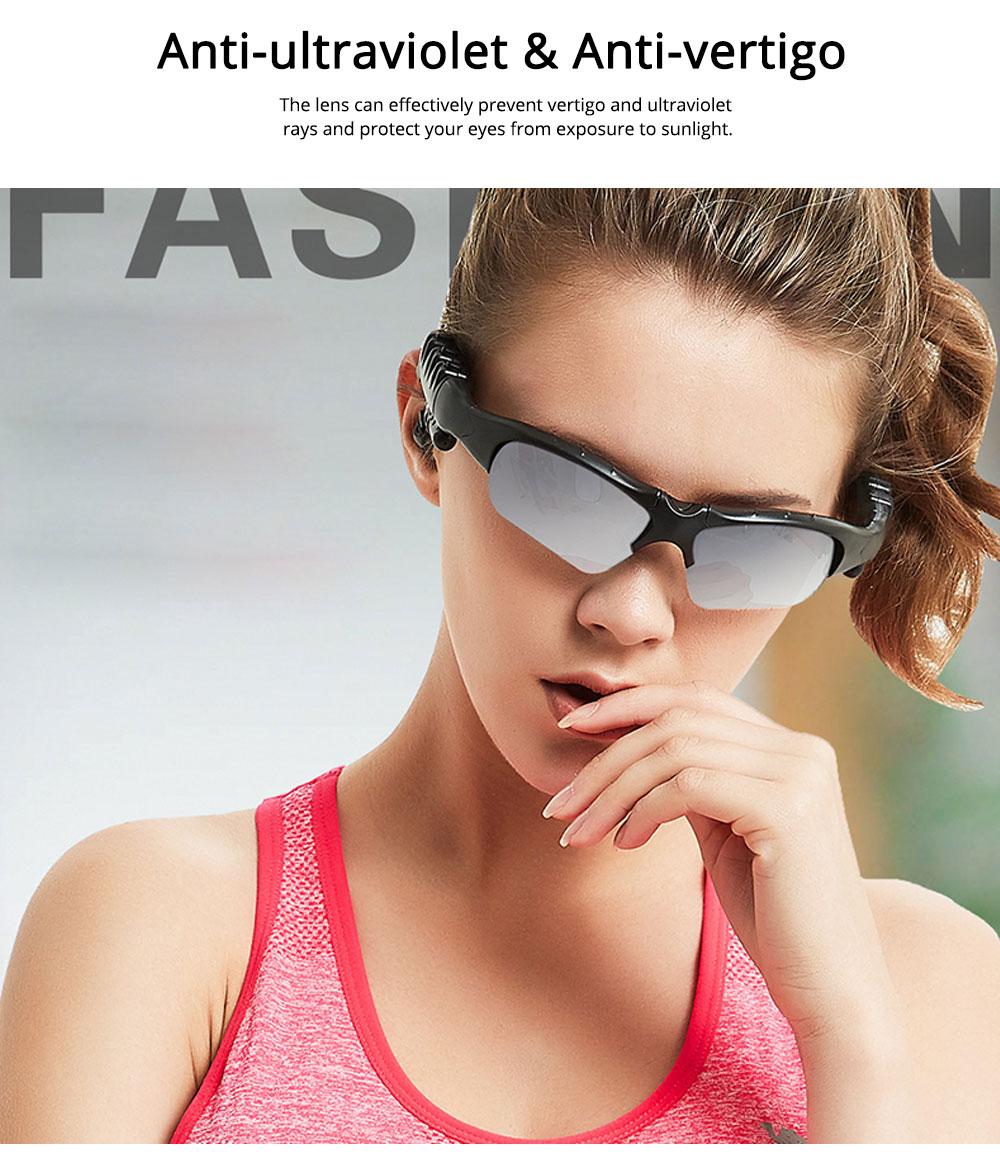 Bluetooth 4.1 Glasses Sport Headset, Multifunction Free Calls Music Play Bluetooth Smart Headset Glasses, ABS Material Anti-ultraviolet Ocular Anti-vertigo Polarizing Lens Adjustable Eyeglass 6