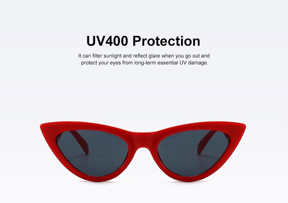 Plastic Frame Cat Sunglasses for Women, Narrow Frame Sun Glasses UV400 Protection Light Weight Lady Sunglasses 2019 1