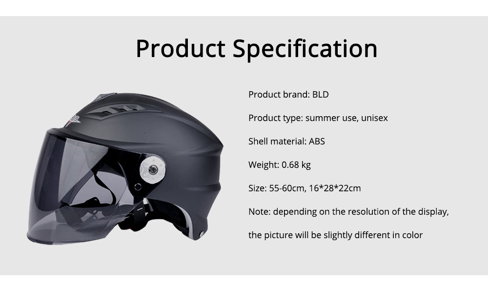 Motorcycle Helmet for Men Women Riding, ABS Material Hollow Buffer Headgear with Anti-fall Adjustable Velcro Headgear, Anti-pressure Breathable Headpiece 8