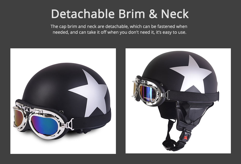 High-strength ABS Motor Helmet Strong Headgear Safe for Riding for Men Women Anti-ultraviolet Anti-glare with Cap-brim Neck Headpiece Safe Cap 2