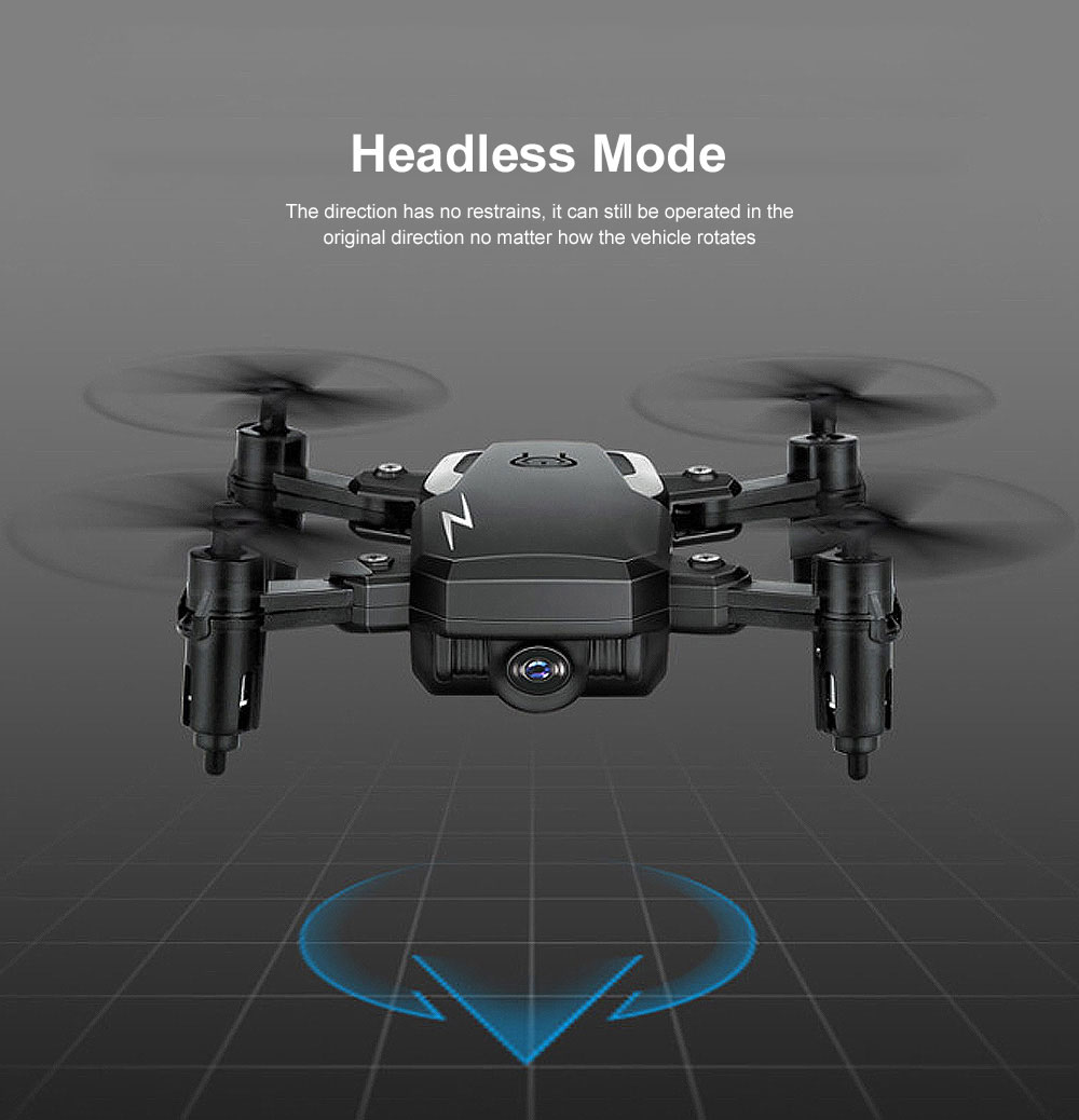 Tinkleo Mini Foldable Unmanned Drone with Quacopter HD Camera Wi-Fi Transmission Headless Mode Camera Drone 5