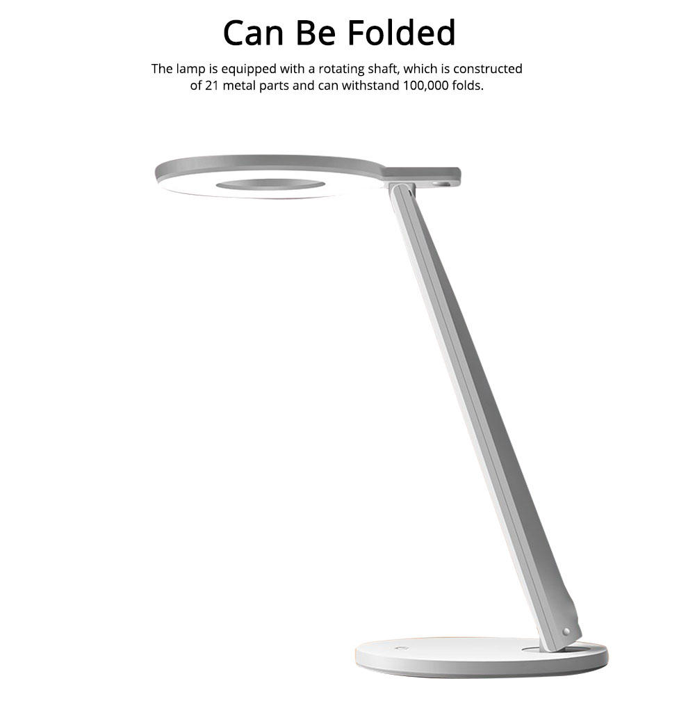 Led Desk Lamp ABS Material Adjustable Brightness Colors Large Light Area Touching Switch Light USB Rechargeable Folding Lamp 4