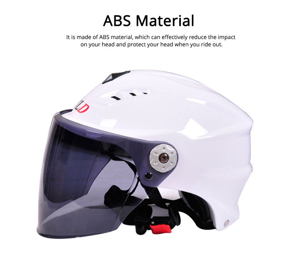 Motorcycle Helmet for Men Women Riding, ABS Material Hollow Buffer Headgear with Anti-fall Adjustable Velcro Headgear, Anti-pressure Breathable Headpiece 6