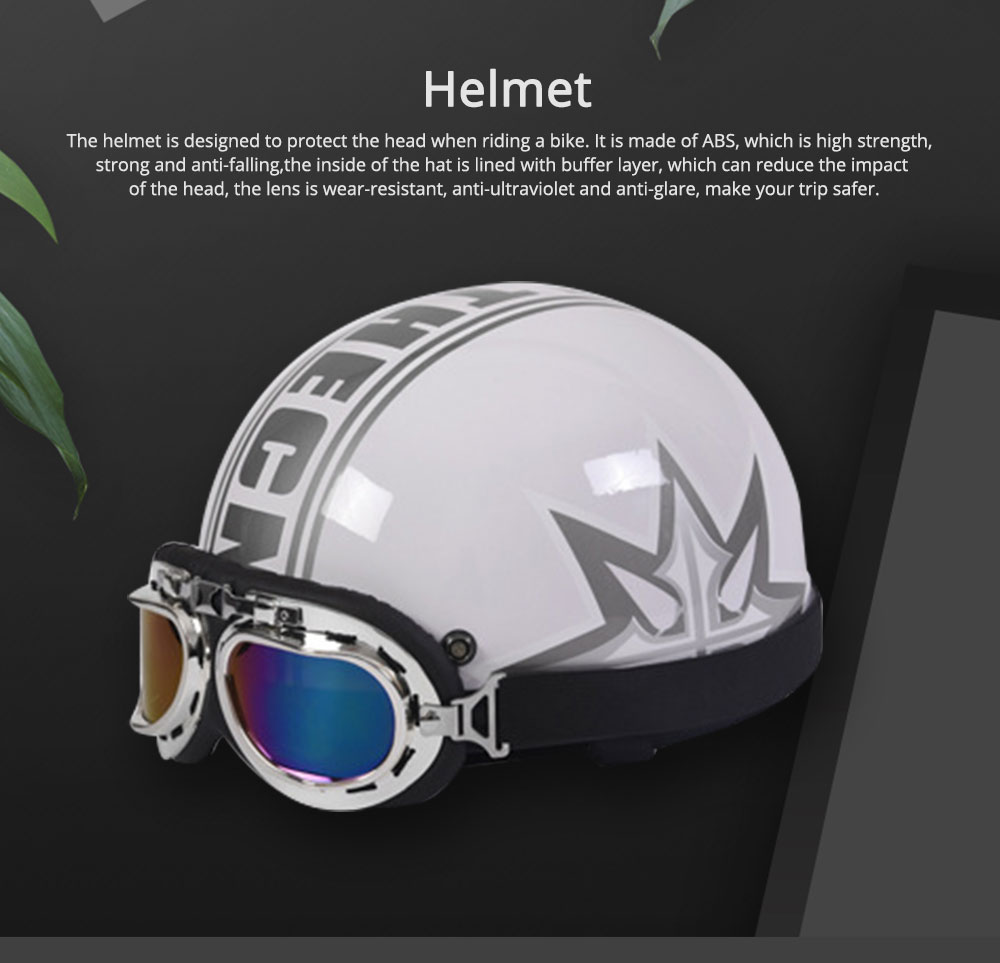 High-strength ABS Motor Helmet Strong Headgear Safe for Riding for Men Women Anti-ultraviolet Anti-glare with Cap-brim Neck Headpiece Safe Cap 0