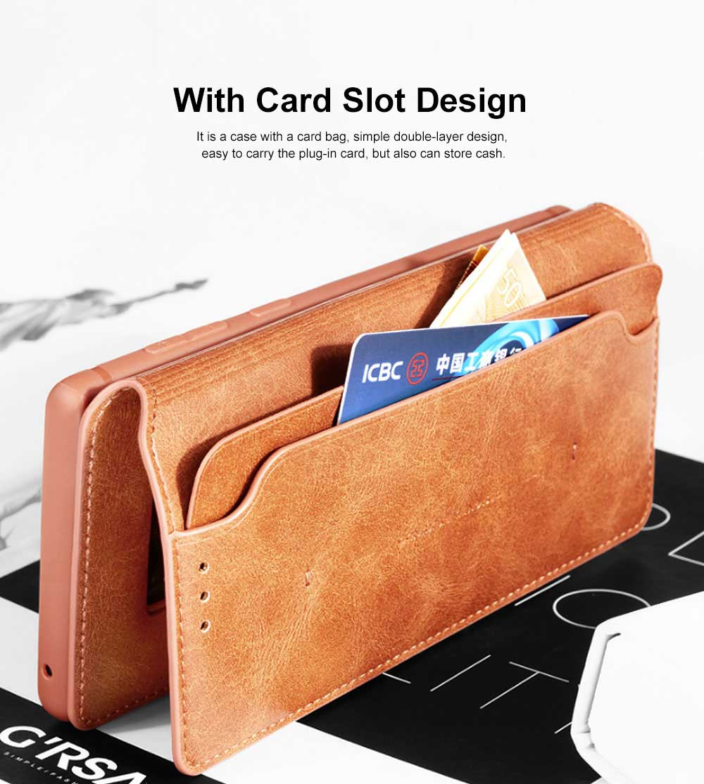 Soft TPU PU Leather Shockproof Protective Samsung Phone Case, Flip Case with Card Slot Samsung Soft Phone Cover for Samsung Galaxy Note 9, S9 plus, S9, S10, S10 plus, S10E, S10 Lite 4