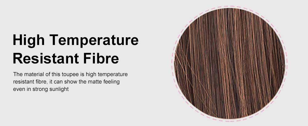Bandage Type Korean Style Toupee Rinka, Ponytail Curved Hair for Lady, Elegant High Temperature Resistant Stylish Wig 5