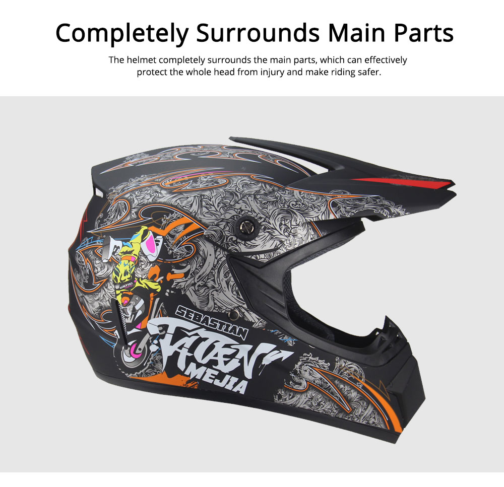 Motor Helmet Mountain Bike Safe Headgear ABS Material Anti-fall Pirate Skull Pattern Headgear for Men Women Riding Cap Anti-pressure Light Helmet 5