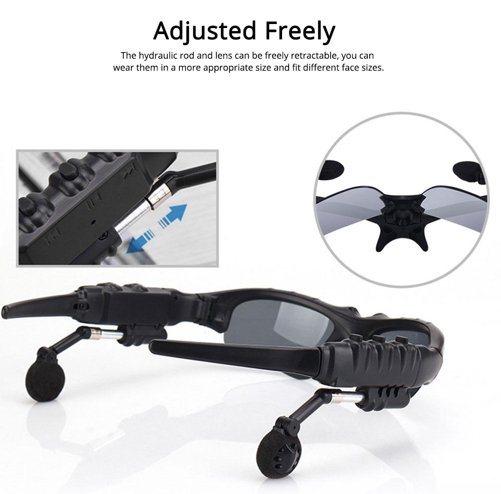 Bluetooth 4.1 Glasses Sport Headset, Multifunction Free Calls Music Play Bluetooth Smart Headset Glasses, ABS Material Anti-ultraviolet Ocular Anti-vertigo Polarizing Lens Adjustable Eyeglass 3