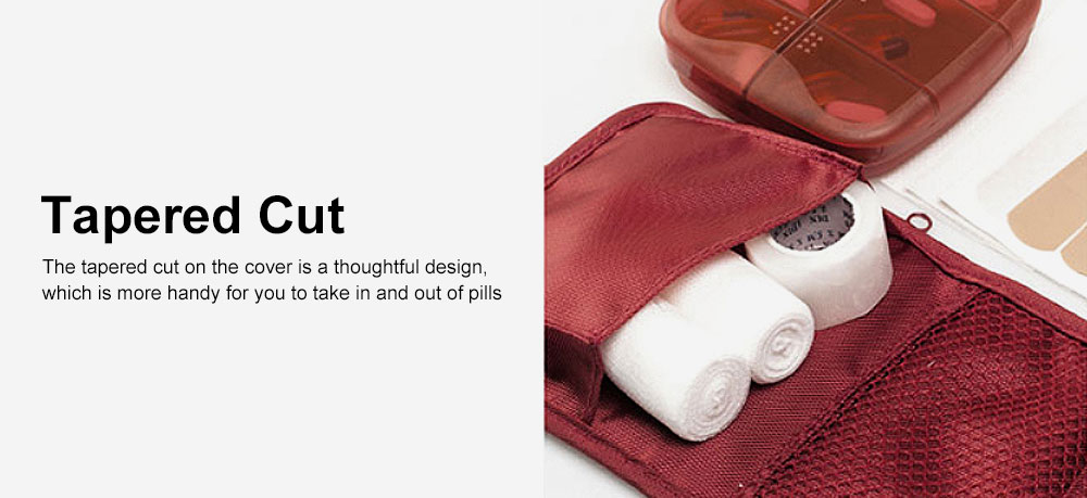 Sealed Mini Pill Holder for Elderly, Patient, Weekly Travel Friendly Pill Box Portable with Waterproof Protective Bag 4