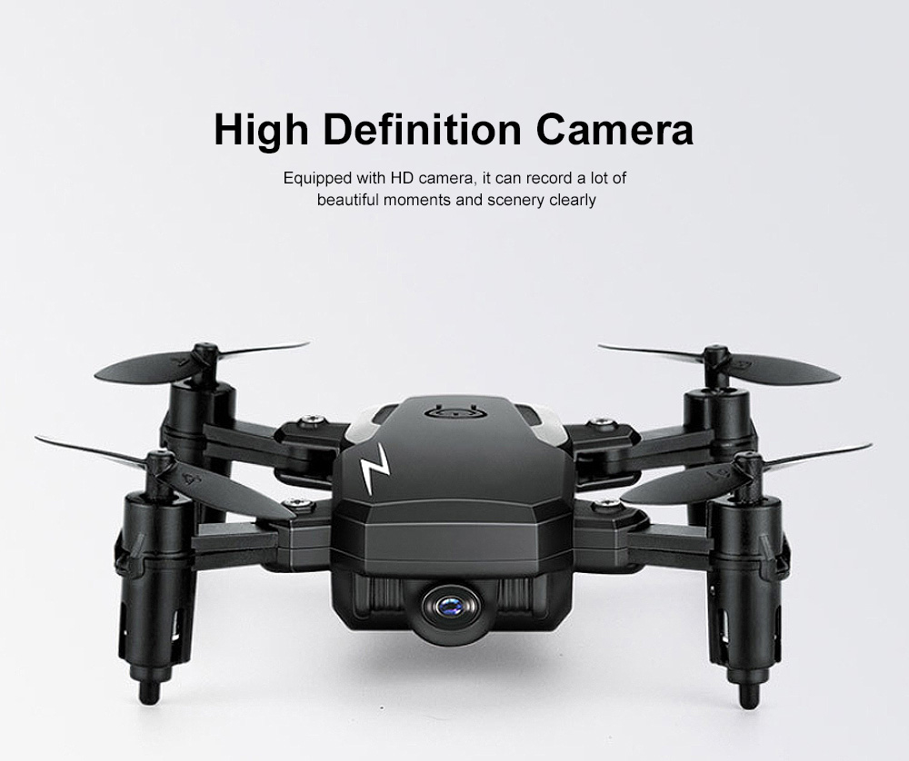 Tinkleo Mini Foldable Unmanned Drone with Quacopter HD Camera Wi-Fi Transmission Headless Mode Camera Drone 3