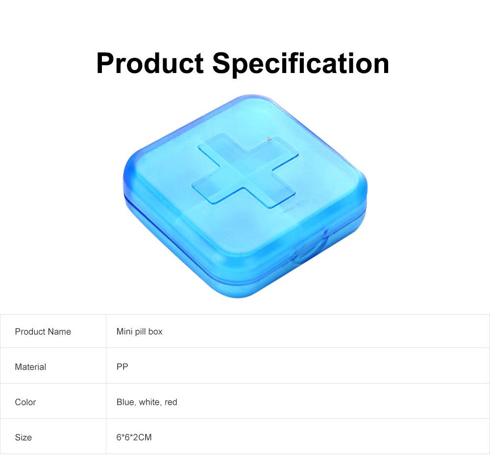 Portable Small Pill Organizer Case, Moisture-proof Pill Box for Vitamins, Fish Oil, Supplements Medication Medicine Case 6
