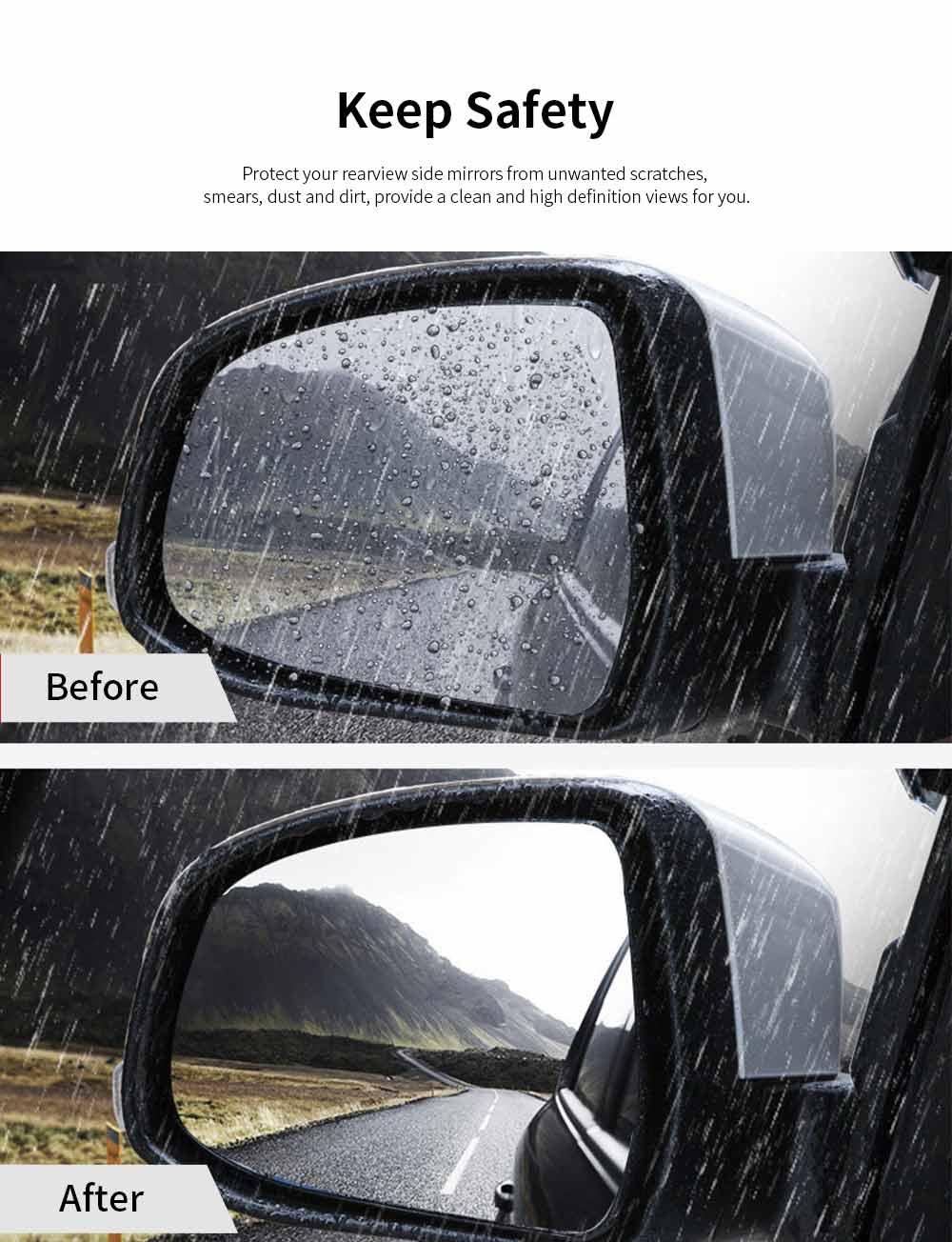 Car Rearview Mirror Film Anti-Fog Anti-Glare Anti-Scratch HD Car Window Membrane Rainproof Clear Protective Films For Honda XRV CRV AVANCIER URV Accord Odyssey City Fit Saloon GREIZ 1