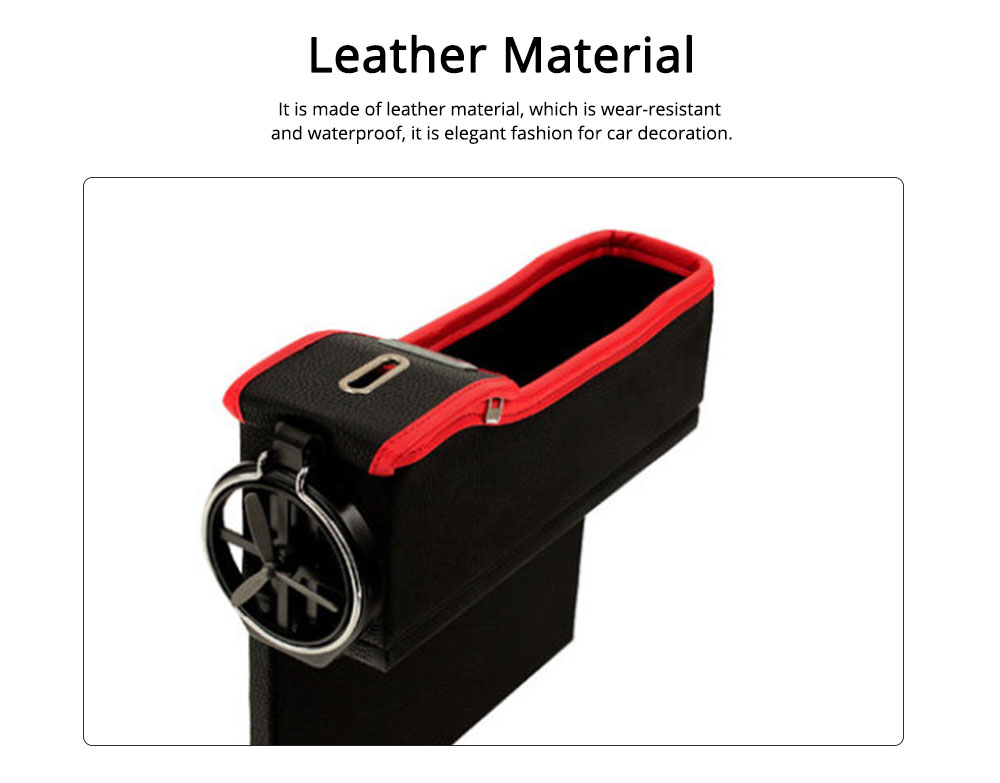Storage Bag Leather Material Slot Installation Pack Box for Car Both Driver Copilot Store Bottle Phone Multiple Functions Container 1