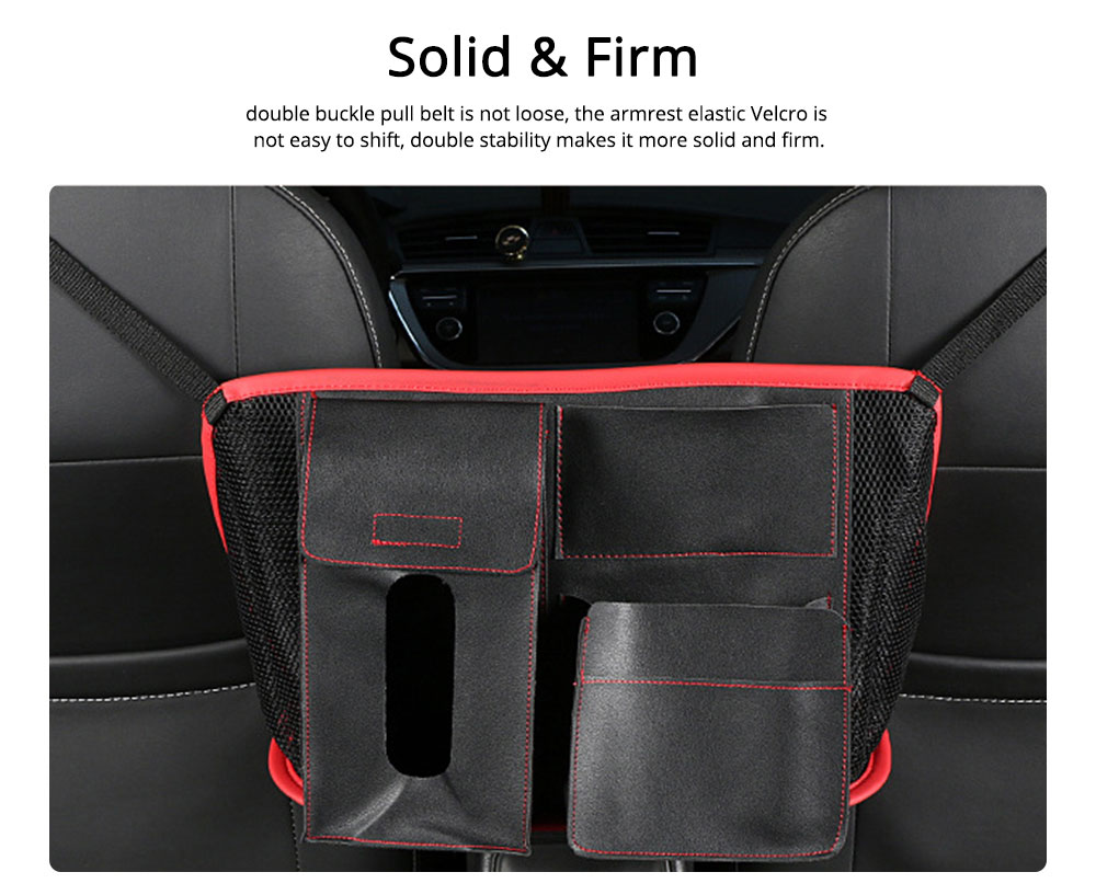 Carriage Bag for Mammy, Baby, PU Material Big Capacity with Pockets Velcro Stability Cross-border Storage Net Bag for Store Daily Items Car Collection Bag 4