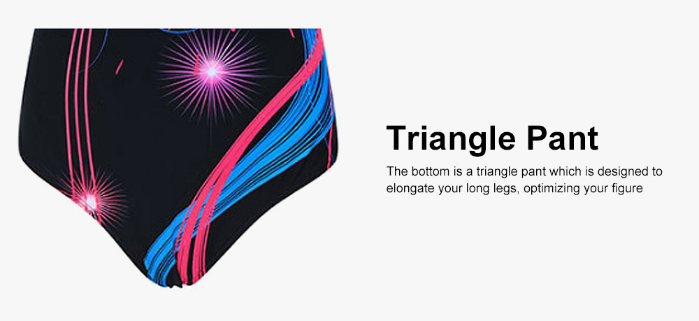 One-Piece Swimsuit with Triangle Pant, Plus Size Beach Wearing Suit for Spring SPA 2019 Summer Slim Women Bikini 4