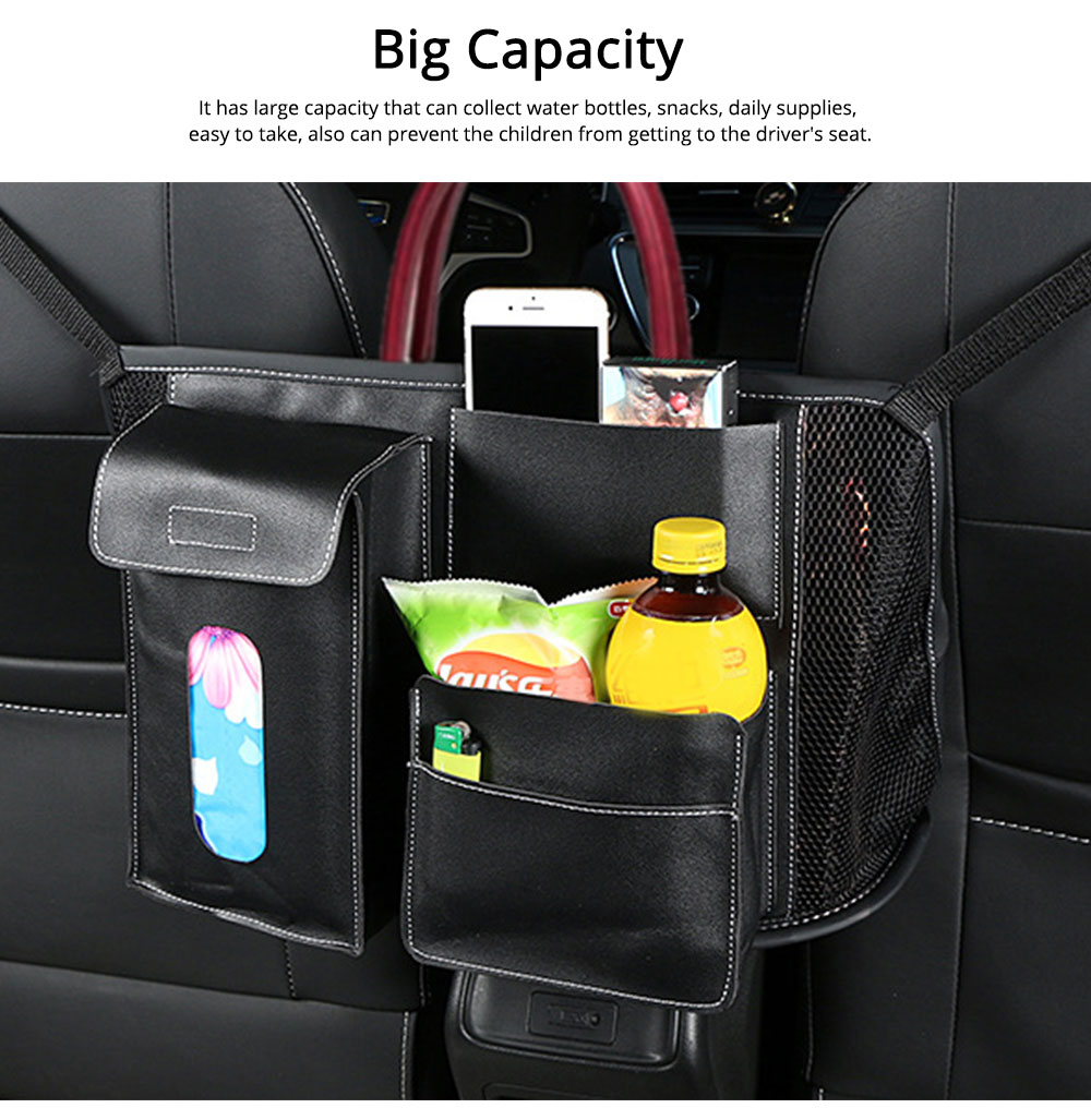 Carriage Bag for Mammy, Baby, PU Material Big Capacity with Pockets Velcro Stability Cross-border Storage Net Bag for Store Daily Items Car Collection Bag 5