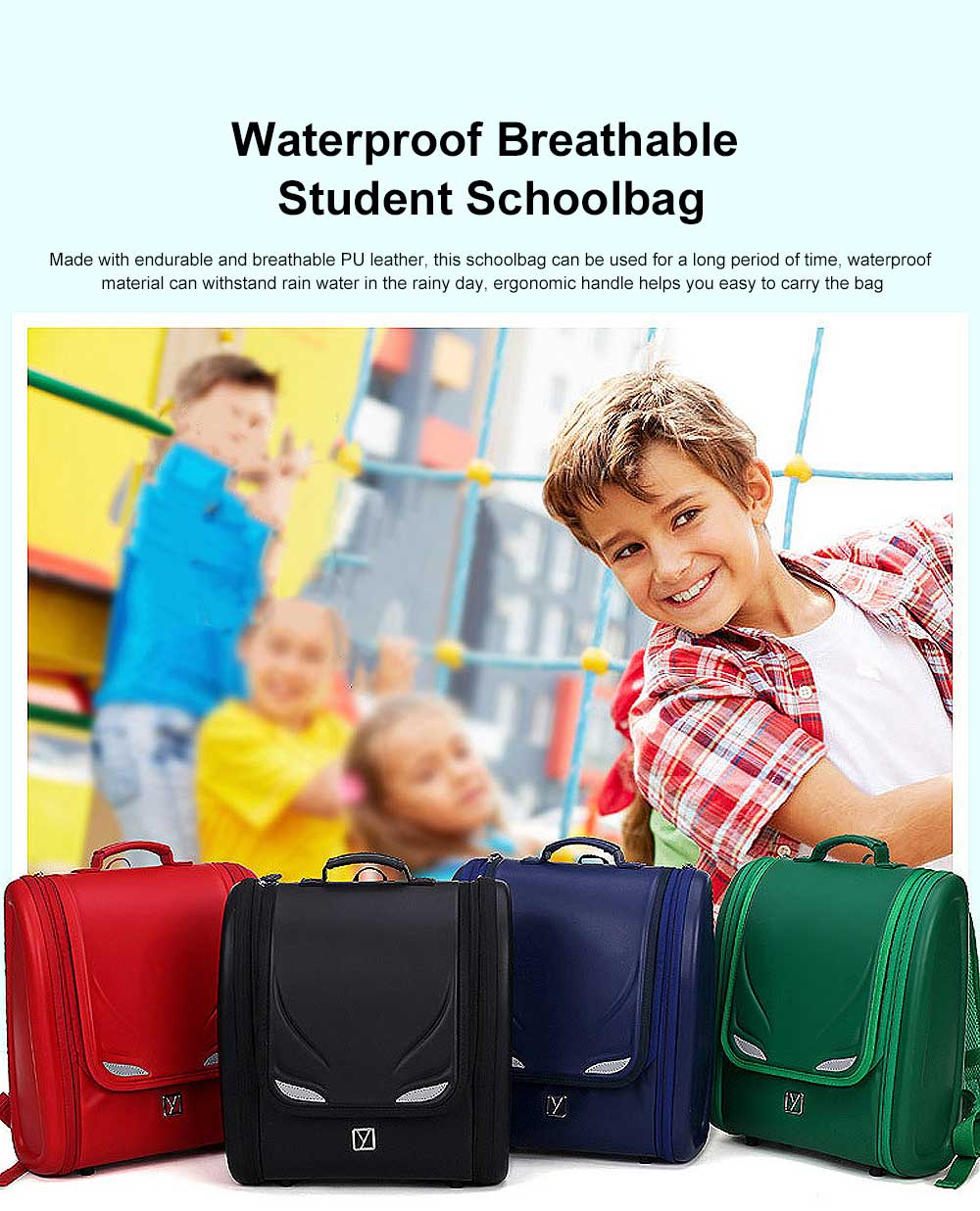 Student Schoolbag with High Capacity Waterproof Breathable Ergonomic Design for 6 to 9 Year Kids School Bag Built in Side Pocket for Boy Girl Gift 0