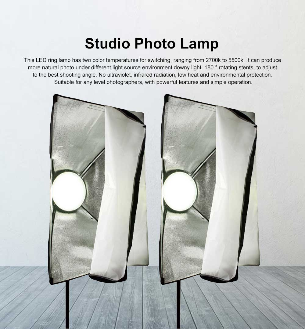 Studio Photo Lamp with Adjustable Dual Color Temperature, Soft Light Lighting Kit for Home & Studio 0